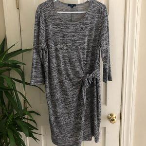 GAP Stretch Knit Grey Dress, Size Large